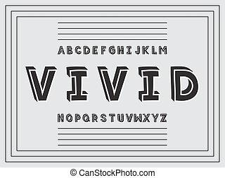 Vivid Handwritten font. Vector