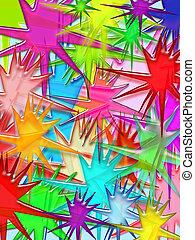 Vivid splash 3d illustrated pattern background