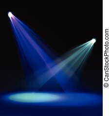 Vivid stage spotlight