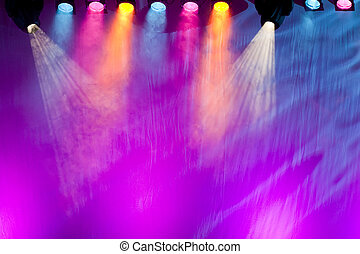 vivid stage spotlights - colorful and vivid stage spotlight ...