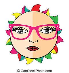 Vivid Sun with glasses