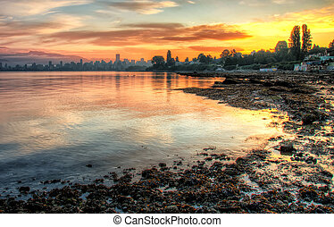 Vivid Sunrise Over Vancouver