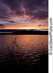 Vivid sunset sky landscape