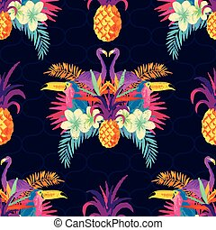 Vivid Tropical Seamless Pattern