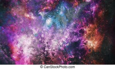 Vivid Universe. Stars and nebulae in deep space animation