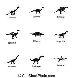 Viviparous lizard icons set, simple style - Viviparous...