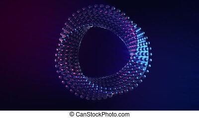 vj, élément, mouvement, résumé, futuriste, circulaire, loop., hypnotique, tordu, seamless, sci-fi, rotation, géométrie, conception