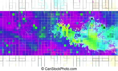 VJ abstract multi color loop