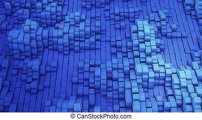 VJ background of the many white squares - Vj blue background...
