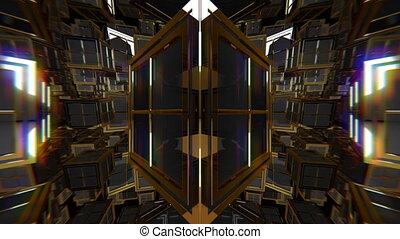 VJ Black Gold Fantasy - VJ kaleidoscopic seamlessly looping...