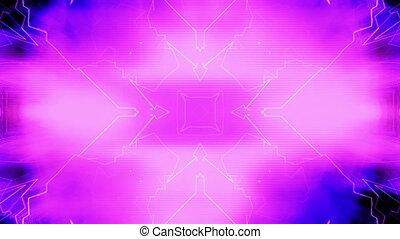VJ Chaotic abstract geometric loop - Looping abstract...