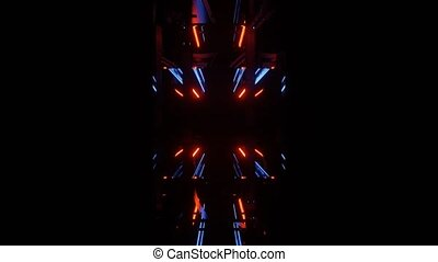 vj, clignotant, 4k, boucle, lumière, uhd, prismatique, nuit...