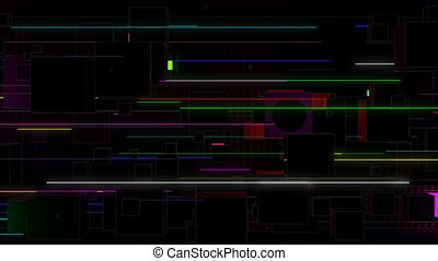 VJ Cubes and Lines - This seamlessly looping video features...