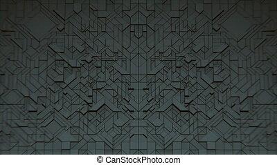 VJ Dark Geometrics - Dark 3D geometrics abstract VJ...