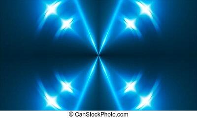 VJ Fractal blue kaleidoscopic background. 3d rendering...