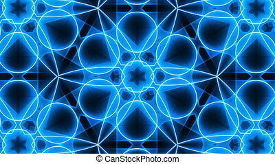 VJ Fractal blue kaleidoscopic background