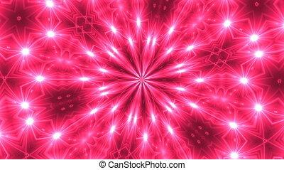 VJ Fractal kaleidoscope background. Background motion with...