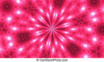 VJ Fractal kaleidoscope background. Background motion with...