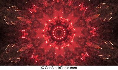 VJ Fractal kaleidoscopic background. Motion with fractal...