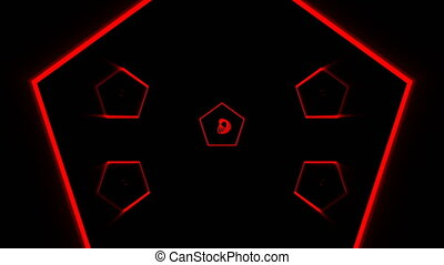 VJ Fractal kaleidoscopic background. Background motion with...
