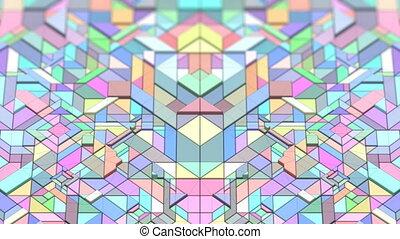 VJ Geometric Bodies - 3D abstract colorful VJ seamless loop...