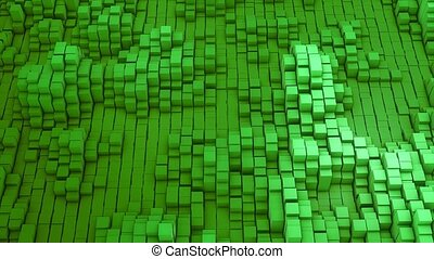VJ green background of the many white squares