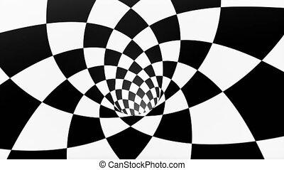 VJ infinite looped checkerboard tunnel, seamless