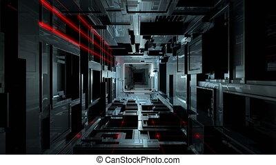 VJ Inside Futuristic Hi-Tech Tunnel - 4K seamlessly looping...