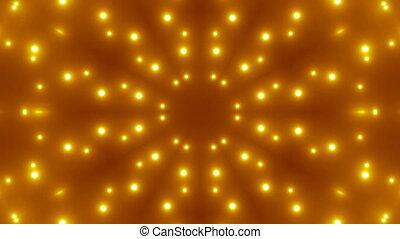 vj, kalejdoskopowy, fractal, złoty, tło