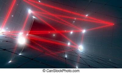 VJ Laser Tunnel - Seamlessly looping 3D laser tunnel...