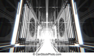 VJ Led Light Hall - Seamless looping pre-rendered 3D...