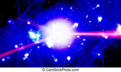 VJ light beams and kaleidoscopic energy abstract looping CG...