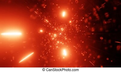 VJ LOOP 3d illustration of fire particle galaxy wormhole