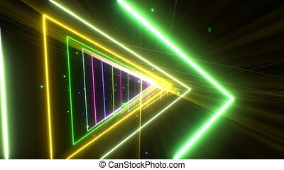 VJ Loop Glowing Disco Tunnel