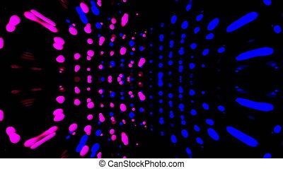 Vj loop, music beat with shiny particles, computer generated...