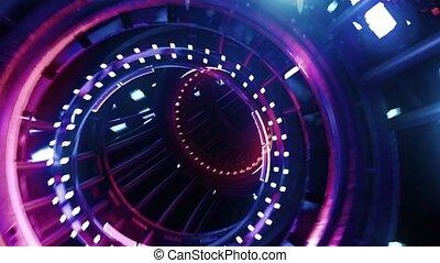 VJ Loop neon digital tunnel