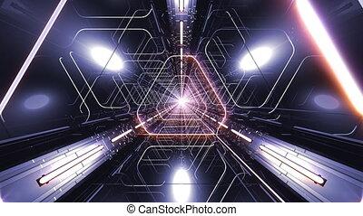VJ Loop Triangle Tunnel - 4K triangular 3D tunnel. VJ...