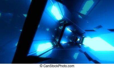 VJ Loop Triangular Edges - 4K triangular edges 3D tunnel. VJ...