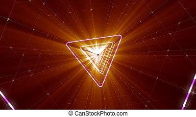 VJ Loop Triangular Tunnel - 4K triangular 3D tunnel. VJ...