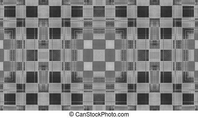 VJ looping hypnotic shapes in black and white background abstraction