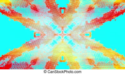 VJ new retro abstraction in blue and orange and yellow wire frame looping background