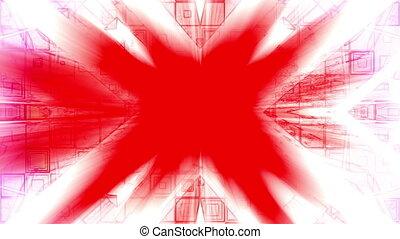 VJ red white geometric loop