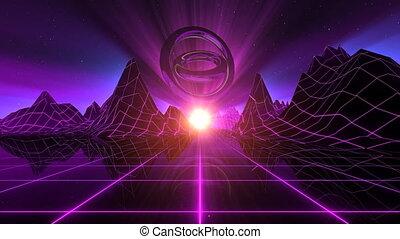 VJ Retro-Futuristic Horizon