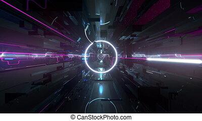 VJ Transformed Space - 4K seamlessly looping VJ animation of...