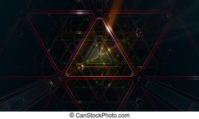 VJ Triangle Loop - 4K triangular 3D tunnel. Seamless looping...