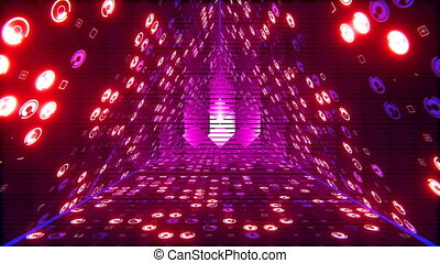 VJ Triangle Tunnel - Seamless loop 3D animation for VJ...