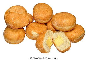 vla, gevulde, doughnuts