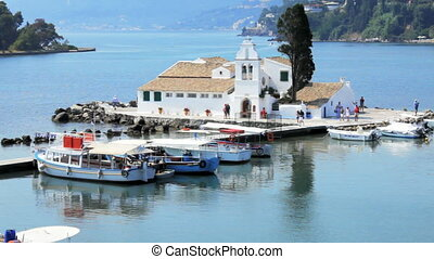 Vlacherna monastery, Kanoni, Corfu