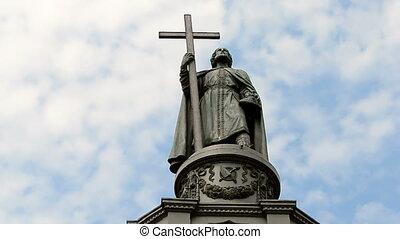 Vladimir baptist monument, Kiev. - Vladimir baptist monument...