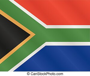 vlag, afrika, zuiden